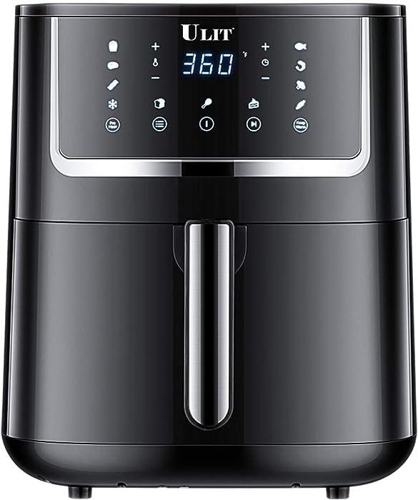 ULIT Air Fryer, Electric Hot Air Fryers Oven& Oil less Cooker,1750-Watt 6qt air fryer,11 presets menu with Digital Touchscreen, Nonstick Basket, ETL Listed (Renewed)
