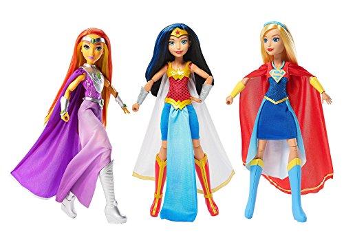 3 Pack  Dc Comics Super Hero Girls Intergalactic Gala 12  Dolls Collection  Wonder Woman  Super Girl   Starfire
