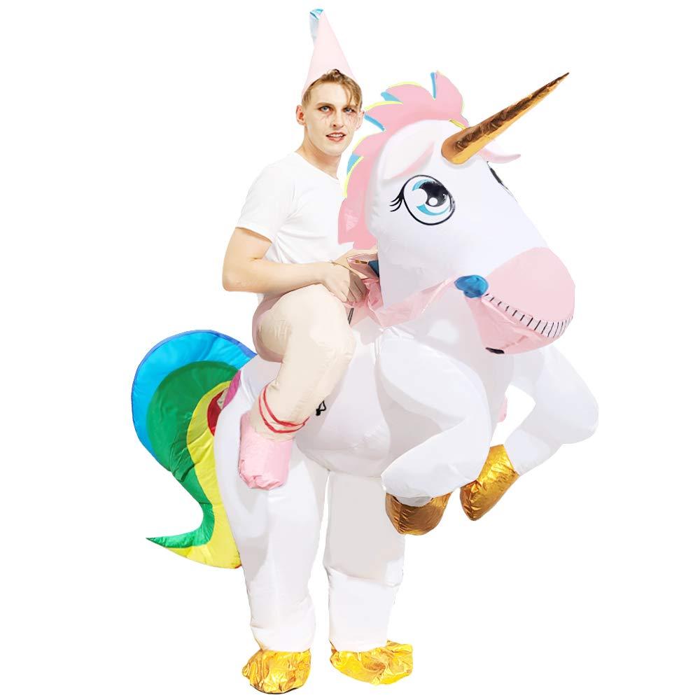 Chenpin Disfraz Inflable de Unicornio Montando un Unicornio ...