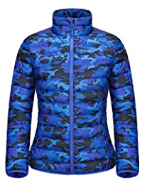 Women's Camouflage Thicken Warm Down Jacket Outdoor Packable Slim Fit Down Coat