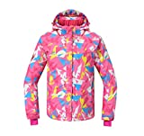 Reopen Girl's Outdoor Sports Jacket Mountain Waterproof Ski Jacket Windproof Rain Coat (130/64A)
