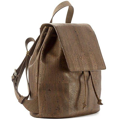 Corkor Cork Backpack - Vegan Handbag For Women Top Flap Back Pack Travel School Brown Color by Corkor (Image #2)