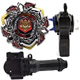 HUSTORE High Performance Master BB114 Variares D:D METAL FUSION 4D Gyro FIGHT MASTER Battling Top With Two-Way L-R Double String Power Left&Right Spin Launcher+Grip Set Top Toys For Kids