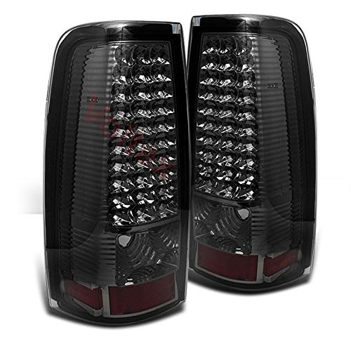 For Smoked 1999-2002 Chevy Silverado 1999-2003 Sierra LED Smoke Tail Lights Lamp Pair Left+Right/2000 ()
