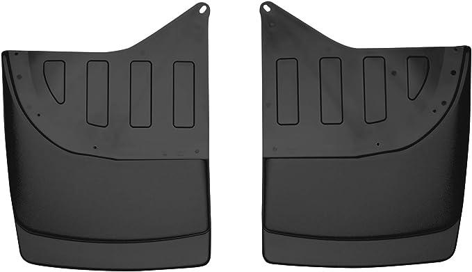 DUAL REAR WHEELS Custom Dually Rear Mud Guards Black Husky Liners 57841 Fits 2007-14 Chevrolet Silverado//GMC Sierra 3500