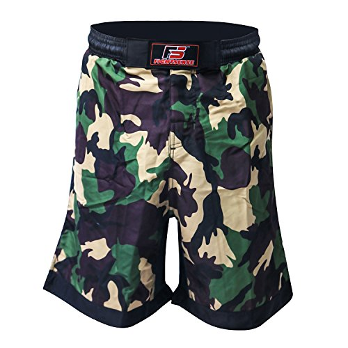 FS MMA Fight Kick Boxing Shorts UFC Cage Fight Grappling Muay Thai Boxing Kick Boxing Martial Art Training Clothing Uniform Camouflage Yellow – DiZiSports Store