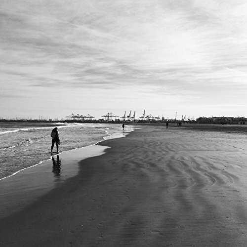 Black And White Beach Photography Print taken in Valencia, Spain by Amadeus Long