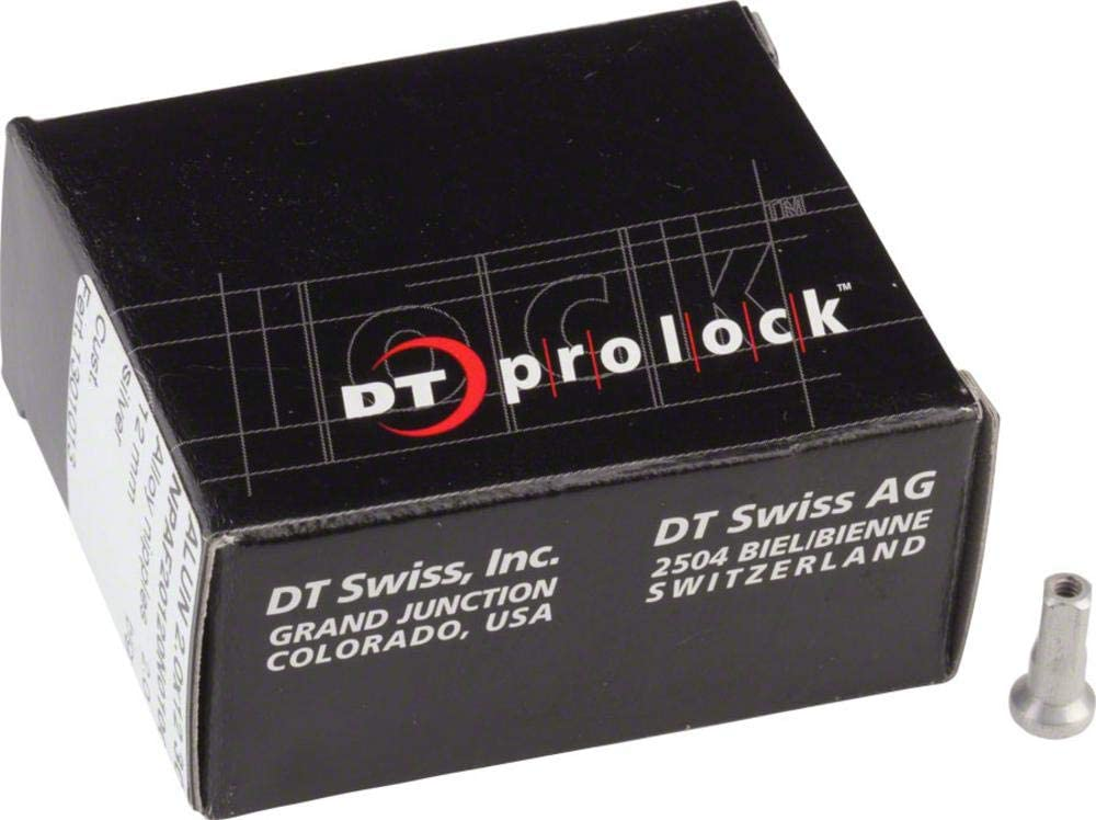 DT SWISS PROLOCK 2.0 X 12MM BLACK ALLOY BICYCLE SPOKE NIPPLES--BOX OF 100