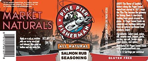 Pike Pier Fisherman Salmon Rub Seasoning by Market Naturals