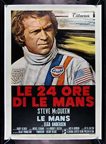 Old Tin Sign Steve Mcqueen Lemans Classic Vintage Movie Poster MADE IN THE USA (Classic Scary Movie Posters)