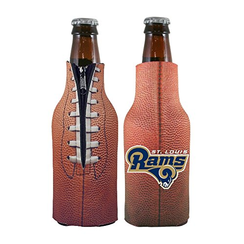 (NFL 2014 Team Logo Football Look Bottle Coolie Holder Koozie Cooler 2-Pack (St Louis Rams))