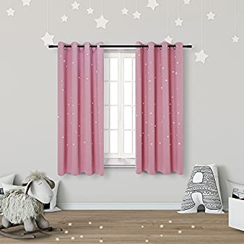 Amazon.com: Kids Room Curtains with Laser Cutting Out Stars Perfect ...
