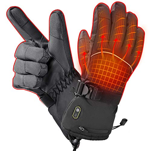 KZY Heated Gloves, Heated Work Gloves for Men Rechargeable 2600mah Battery Winter Warm Snow Gloves Women, Electric Gloves Heated for Hunting,Motorcycle,Hiking,Skiing