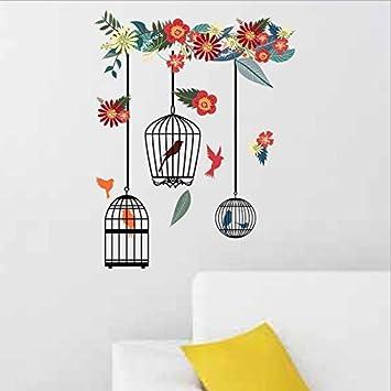 Nuevas flores, decoración de jaulas, pegatinas, sala de estar ...