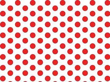 Geschenkpapier, gepunktet, 51 x 76 cm, 10 Blatt Rot / Weiß: Amazon ...