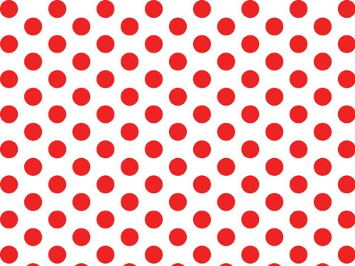 Red and White Polka Dot Tissue Paper - 20 Inch x 30 Inch - 48 XL Sheets