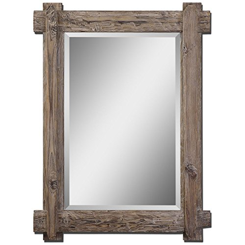 Feyock Grace Collection (Uttermost Claudio Mirror 2.125 x 29.25 x 39.25, Walnut)