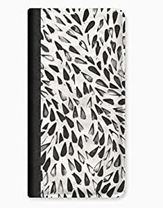 Hand Painted Geometric Black Triangles iPhone 5c Leather Flip Case