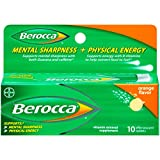 Berocca Effervescent Tablets, Orange, 10 Count