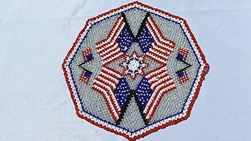n flag (Beaded Doily)