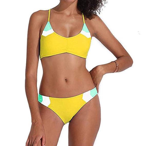 Sexy Bikinis Bañadores Moda Cosiendo Color Mujer 2019 Tifiy lcK31JFT