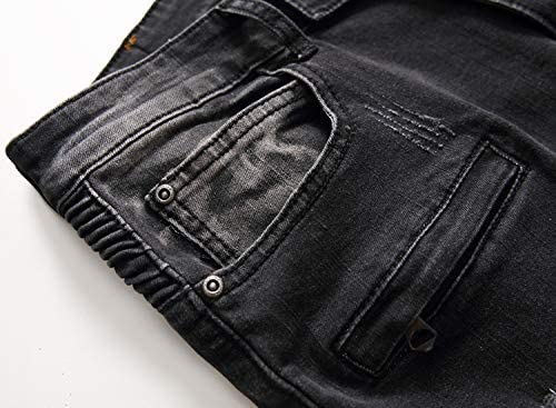 """Liuhond Skinny Slim Fashion Men's Ripped Straight Holes Hip Hop Biker Stretchy Jeans    These are high quality jeans,we use the best material and fashion design,easy to style with different clothes,like t-shirts,leather jackets,boots are good choices.More and more like the style of moto biker,skinny ripped broken jeans,because they are cool and awesome to putting on! If you are not sure for you size,you can for help or go up one size directly,thx! We are focusing on producing high quality jeans with a reasonable so that most of people can afford them. Do not miss out! Size: US 28:Waist:75cm/30"""" Length:106cm/41.7"""" Inside length:76cm/30"""" US 30:Waist:80cm/32"""" Length:107cm/42.1"""" Inside length:77cm/30.4"""" US 32:Waist:85cm/33"""" Length:108cm/42.5"""" Inside length:81cm/32"""" US 34:Waist90cm/35"""" Length:109cm/43"""" Inside length:81cm/32"""" US 36:Waist:95cm/37"""" Length:109cm/43"""" Inside length:81cm/32"""" US 38: Waist:100cm/40"""" Length:111cm/44"""" Inside length:81cm/32"""" US 40: Waist:105cm/42"""" Length:113cm/45"""" Inside length:81cm/32"""" Please buy the """"Liuhond""""Brand to ensure a high-quality pair of jeans,thank you!"""