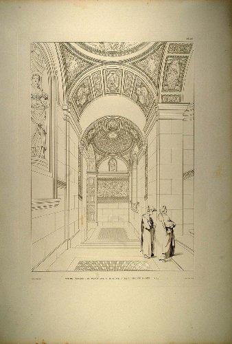 1860-engraving-interior-palazzo-mattei-di-giove-roman-architecture-carlo-maderno-original-copper-eng