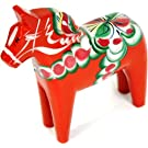 "Traditional Wooden Swedish Dala Horse - Red 6"" (15cm)"