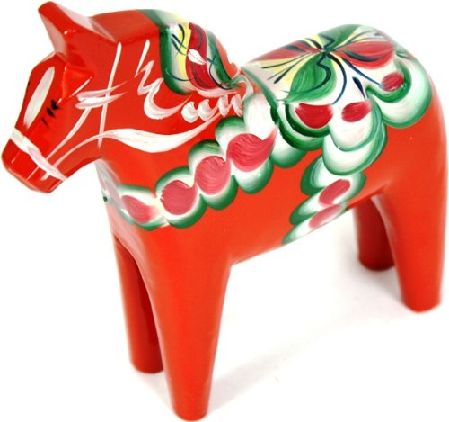- Traditional Wooden Swedish Dala Horse - Red 6