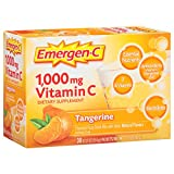 Emergen-C (30 Count, Tangerine Flavor, 1 Month Supply) Dietary Supplement Fizzy Drink Mix with 1000mg Vitamin C, 0.33 Ounce Packets, Caffeine Free Review
