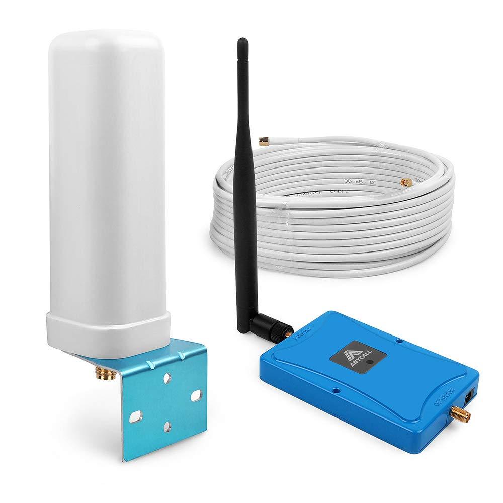 ANYCALL Amplificador de Señal de Teléfono Celular Hogar Repetidor Señal LTE 800MHz Celular Movistar Orange Vodafone - Mejore su Datos 4G