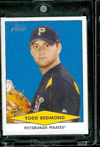 (2007 Bowman Heritage Prospects # BHP52 Todd Redmond (XRC - RC - Extended Rookie Prospect Card) Pittsburgh Pirates - Rookie Baseball Card in a Protective Display)