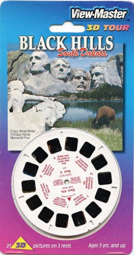 ViewMaster - Crazy Horse Memorial, Black Hills, South Dakota - 3 reels - 21 3D images - (Crazy Horse Dakota)