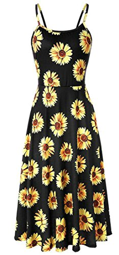 Skater Dress Spaghetti Strap Slip Printed Backless Sexy 3 Fashion Womens Domple xqSURPw