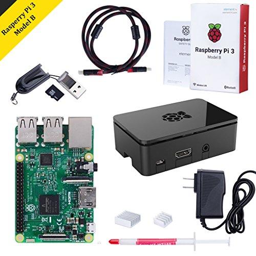 Raspberry Pi 3 Model B Kit with Black Case, Pow...