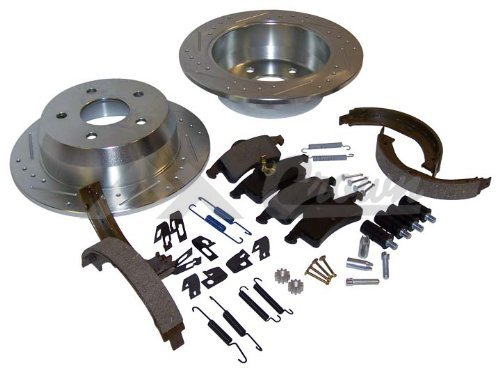 Performance Brake Kit 1999-2004 WJ Grand CherokeeComplete Performance Rear Brake Kit; Including 2 Drilled & Slotted Rotors, Pad Set, Parking Brake Shoes and All Hardware 52098666DSK