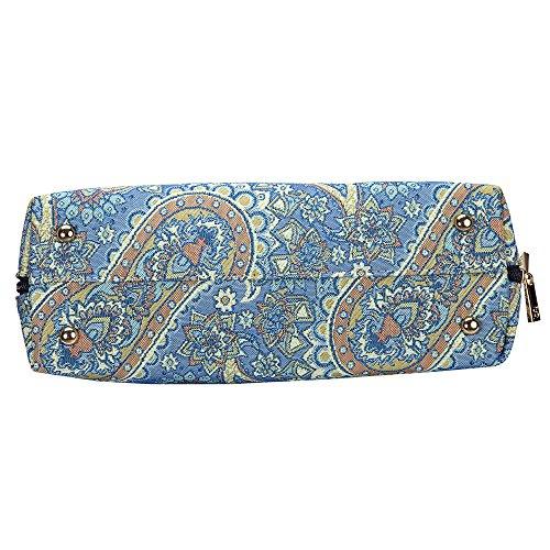 Borsa Signare a spalla convertibile in tessuto stile arazzo alla moda Paisley