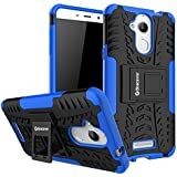 Bracevor Shockproof Hybrid Kickstand Back Case Defender Cover for Coolpad Note 5 - Blue