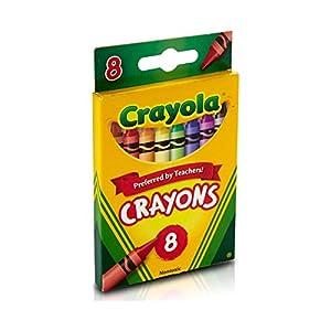 Crayola Crayons, 8 Count, Pack of 2 + Crayon Sharpener