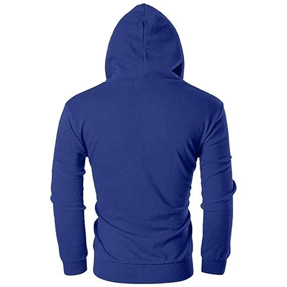 Sudadera con Capucha de Cremallera de Manga Larga Slim Fit para Hombre con Blusa Outwear de Bolsillo por Internet.: Amazon.es: Ropa y accesorios