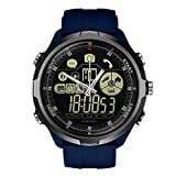 Zeblaze Smart Watch Vibe 4 Hybrid,Super Lightweight Vibe 4 Hybrid Rugged Hybrid Smartwatch 50M Waterproof 24-Month Standby Time 24h All-Weather Monitoring Smart Watch for Android iOS-Blue