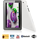 Dual Camera 9 Inch Tablet Phablet Ounice 16GB Storage Android 4.4 Quad Core WIFI HD 9 Phablet (White)