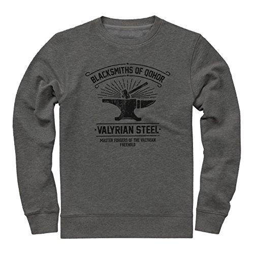 Schmiede von Qohor - Valyrian Steel - Game Of Thrones Inspiriert Sweatshirt (XX-large, Dunkel Grau)