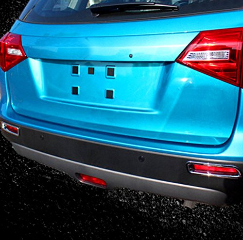2pcs ABS trasera Fog Light Tapa moldeado cromo para Suzuki Vitara Escudo 2015 2016: Amazon.es: Coche y moto