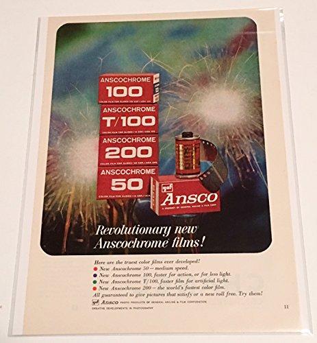 Ansco Color Film (1963 Ansco Anscochrome Color Film Magazine Print Advertisement)