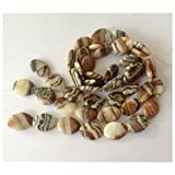 New 1 Strand 16'' Natural 18x23mm Stripe Picture Stone Gemstone Oval Loose Beads