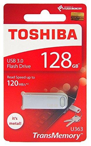 (Toshiba 128GB 128G USB 3.0 Flash Disk TransMemory U363 USB3.0 Flash Drive metal USB Stick Read 120MB/s ( THN-U363S1280A4 ))