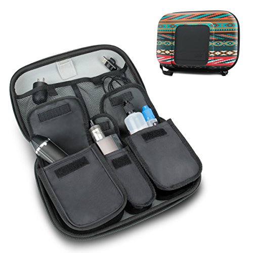 USA Gear Vape & Accessory Carrying Case Premium E-Cigarette Vape Mod Travel Pen Large Organizer - Works with blu, Innokin, Janty, Halo Cigs, 777 E-Cigs and More Electronic - Electronic Cigarette Battery