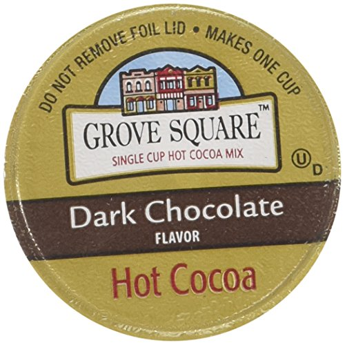 Grove Square Hot Cocoa Cups, Dark Chocolate, Single Serve Cup for Keurig K-Cup Brewers, 48 Count (Packaging May -