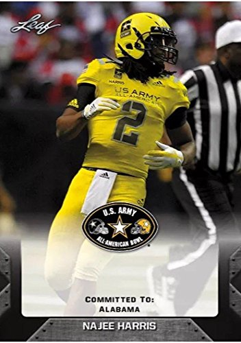 Najee Harris 2017 Leaf U S  Army High School All American Rookie Card  Alabama